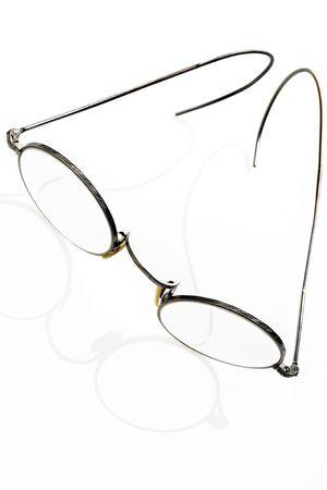 rimmed: rimmed glasses on white Stock Photo