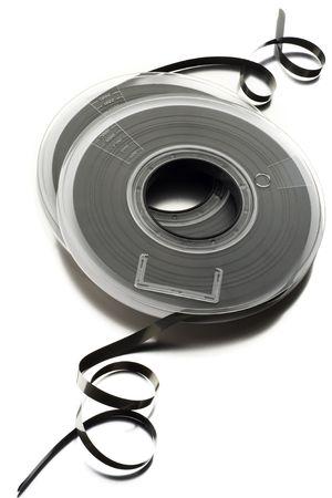 yesteryear: rollos de cintas de computadora anta�o en blanco