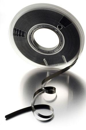 yesteryear: Ordenador carrete de cinta en blanco de anta�o  Foto de archivo