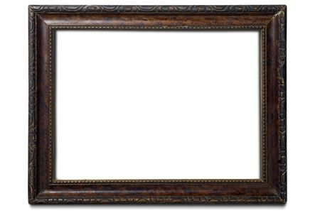 an old wooden frame on white photo
