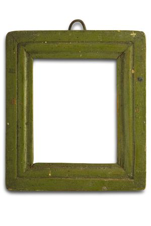 an old green frame  photo