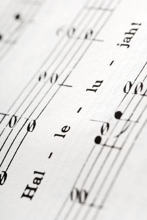 hymnal: un dettaglio della hymnal con la parola: Hallelujah Archivio Fotografico