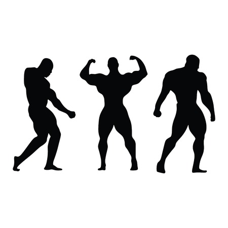 BODYBUILDING VECTOR Banque d'images - 126344895