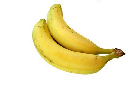yellow bananas isolated on white Stock Photo