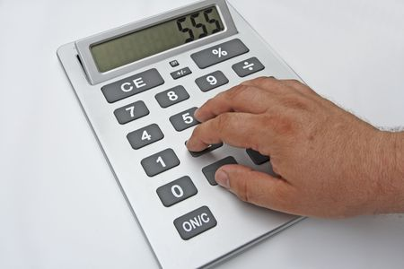 calculator on the white background Stock Photo