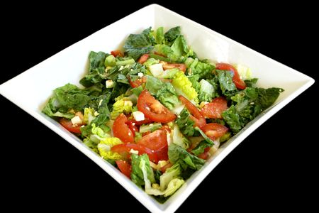 mixed salad in plate