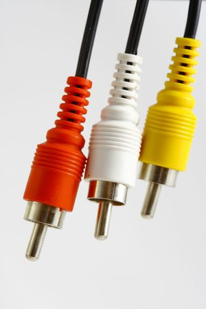 plugs on the white background Stock Photo
