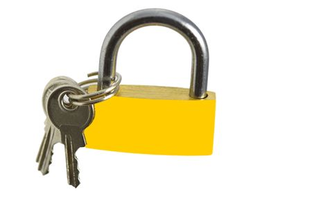 lock and keays om the white background Stock Photo - 6383909