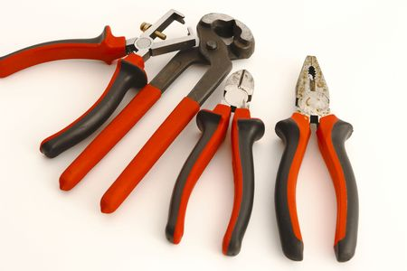 tools on the white background Stock Photo - 6571615