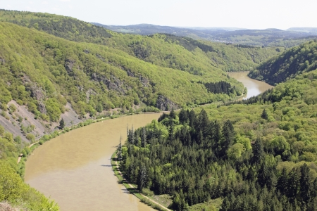 saarschleife the river saar turn around the hill