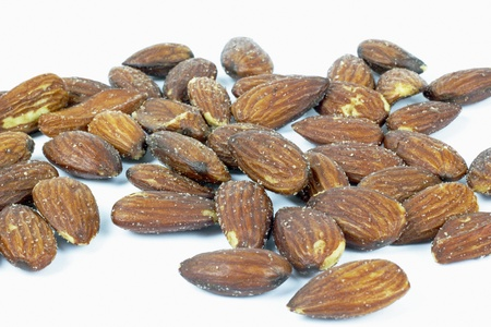 roasted almonds with salt Stock Photo