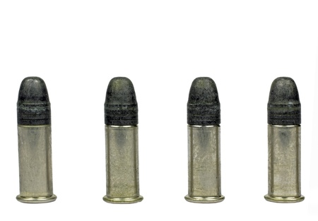 bullets on the white background