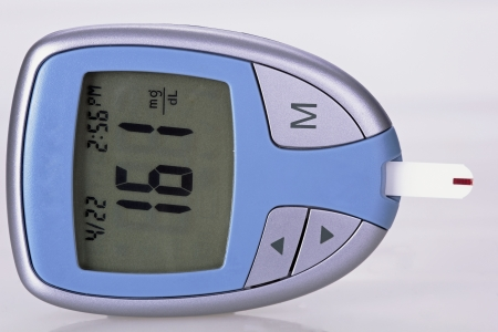 glucometer: blood check- glucometer