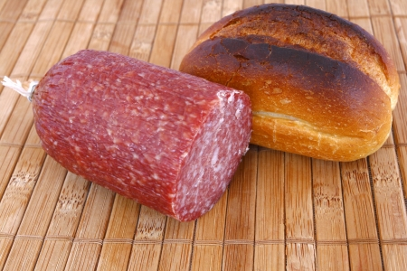 roll bread and salami