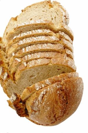 fresh german bread on the white background Stock Photo