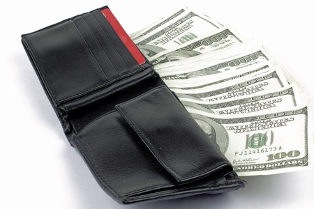 full wallet with american dollars