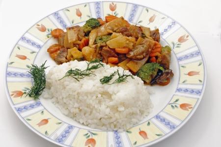 tasty china food  pork on the table Stock Photo