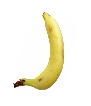 banana isolated on the white background Stock Photo