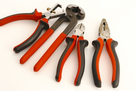 tools on the white background Stock Photo - 19870538