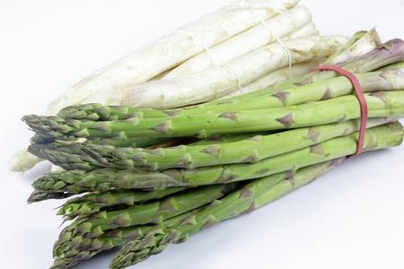 asparagus on the white background Stock Photo