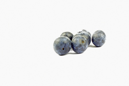 blueberries on the white background Stock Photo
