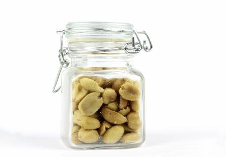Peanuts in the glass jar