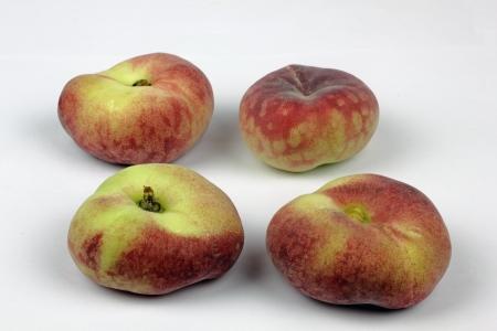 wild peaches on the white background