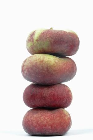wild peaches on white background