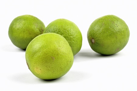 limes on the white background Stock Photo