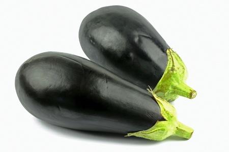 Eggplant on the white background