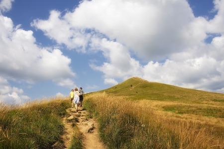 Bieszczady Mountains National Park in Poland, beautiful landscape