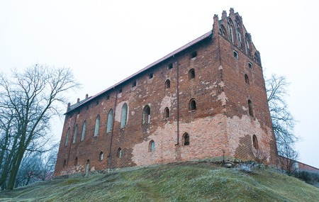 crusaders: Old destroyed crusaders castle in poland, Dzialdowo Editorial