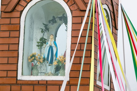 male likeness: Figure of Mary- polish village  place of prying Stock Photo