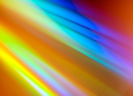 Closeup of rainbow colored reflection on CD