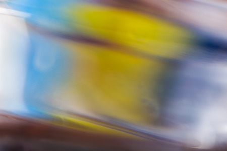 opalescent: Abstract background of color reflections in thick glass vase. Macro abstract background Stock Photo