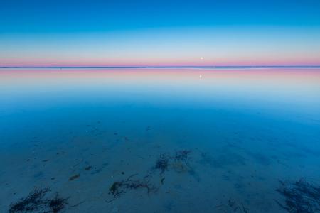 sunrise: Beautiful beach before sunrise. Landscape of gdanska bay photographed on Jastarnia in Poland