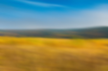 Blurry, defocused abstract background of fields. Nature blurry background