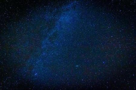 milkyway: Night starry sky landscape. Beautiful dark night sky with stars. Stock Photo
