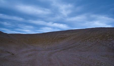thirst: Sand dunes under cloudy sky at evening.