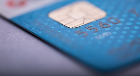 bankcard: Credit card in close up. Abstract photo of bank card with shallow depth of field Stock Photo
