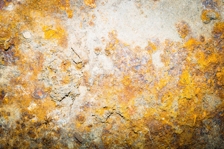 Old rusty metal background. Close up of destroyed iron pattern.