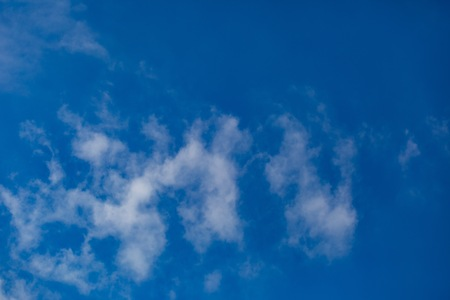 Blue sky with white clouds background. Abstract atmosphere background