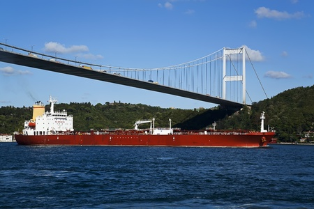 A Petrol Tanker in Istanbul Stock Photo