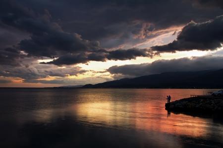 A sunset after rain at AkcayTurkey in 2010  (2) photo