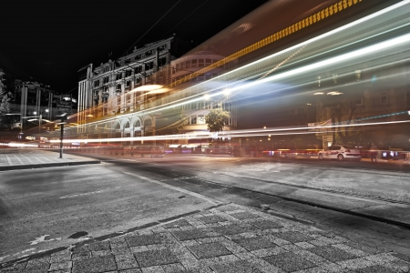 Long exposure at the Istanbul Karakoy in night time Stock Photo - 15816639