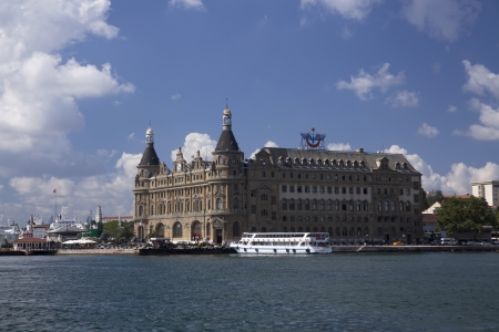 Istanbul,Kadikoy,Turkey - July 31,2012: Haydarpasa Train Station Building
