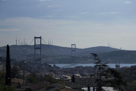 marmara: Bosphorus Bridge at Istanbul, Turkey Stock Photo