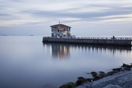 Historical  Moda  Port at Istanbul, Turkey