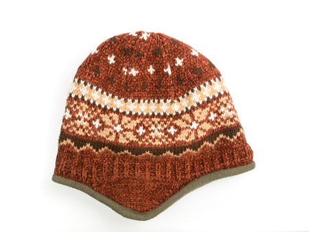 Knit Hat isolated on a white background photo