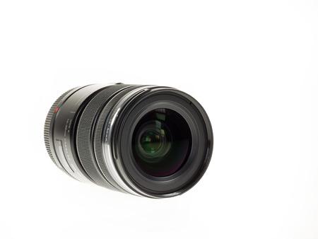olympus: Istanbul, Turkey - January 29, 2014  Olympus M Zuiko Digital 12-50mm lens isolated on white background